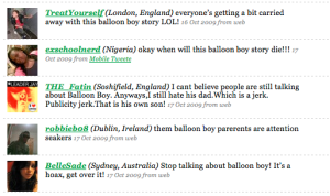 tweets about balloon boy hoax