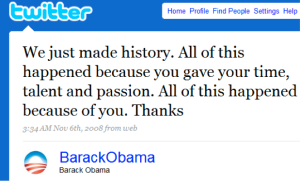 Obama twitter wins election