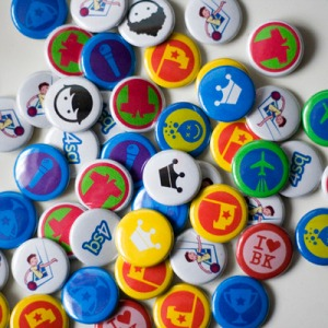 foursquare badge buttons